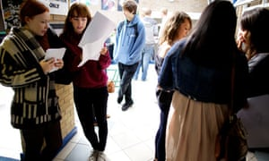 A-level students get results