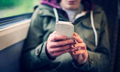 Salesforce: Teenage girl using a smart phone