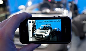 Salesforce: Visitor photographing New Mini Rocketman