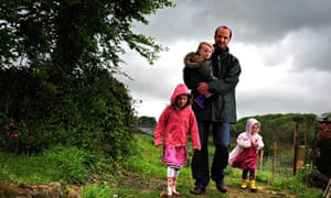 Live better: Leo Hickman, pictured at home with his children in Lanhydrock, Cornwall