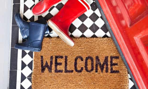 Live better: Welcome mat and wellington boots
