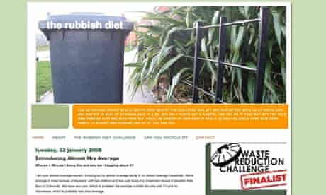 The Rubbish Diet blog screengrab