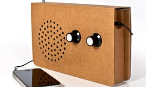Cardboard radio and iPod speaker new crop