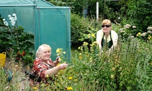 Two gardeners at Ushaw Moor community garden