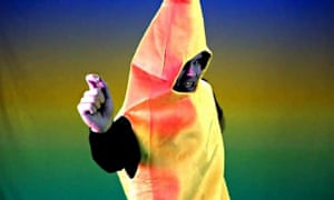 Still image from the 'I'm a banana' song on YouTube
