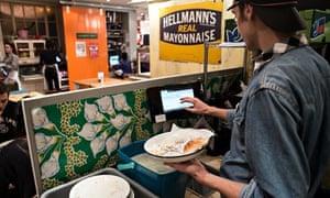 Winnow Solutions 'talking bin' in use at the Breakfast Club
