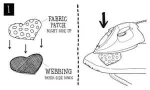 Patching trousers diagram 2