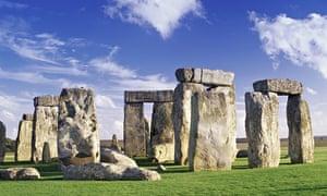 VE cycling: Stonehenge, Salisbury Plain, Wiltshire, England