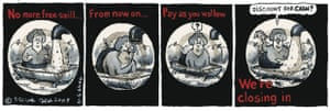 Steve Bell's If ... No more free swill ...