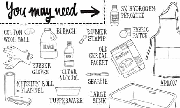 How to mend bleached clothes