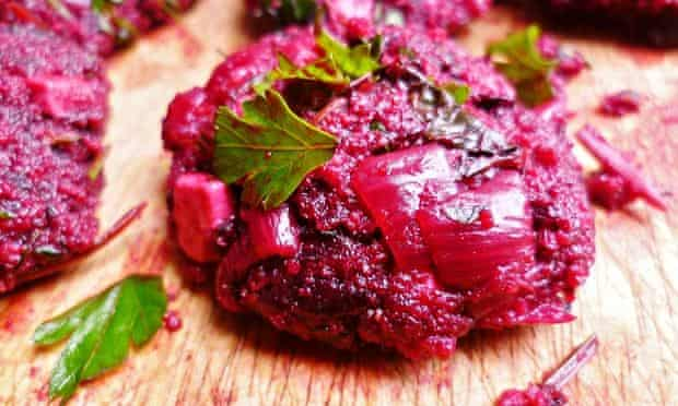 leftover beetroot - raw fritter mixture