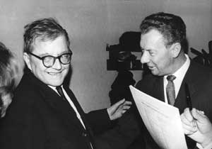 Dmitri Shostakovich and Benjamin Britten, 1966