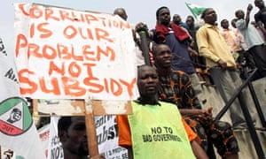 nigeria corruption protest