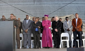 Religious leaders attend a Marikana memorial service