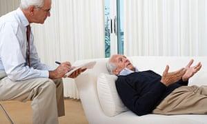 Psychiatrist Treating Senior Man