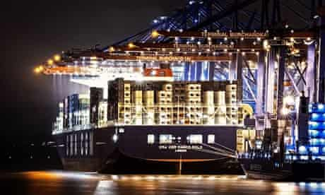 Marco Polo, the world's largest container ship