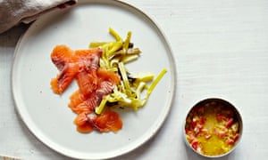 10 best leek recipes: Cured salmon with pickled leeks