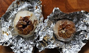 Readers recipe swap; garlic: cut the tops off the garlic bulbs and roast.