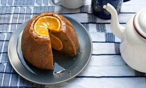 Ruby Bakes…. hidden pleasures. A steamed orange and ginger pud. A whole orange lurks inside.