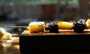 RRS: Turkey, pineapple jerk sticks.