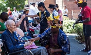 Get togethers: phakama performers in the care home garden