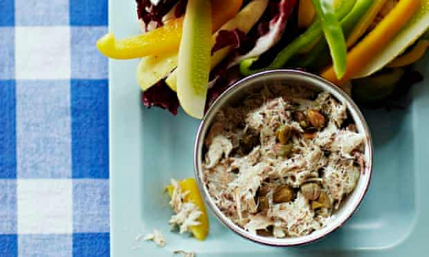 10 best: healthy snaks UPRIGHT. Here is a pot of mackerel pate