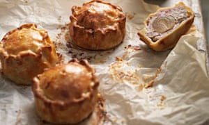 Tom Kerridge's pork pies with hidden pickles