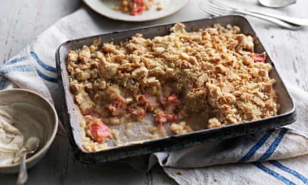 Tom Kerridge's rhubarb crumble.