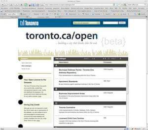 Toronto government data