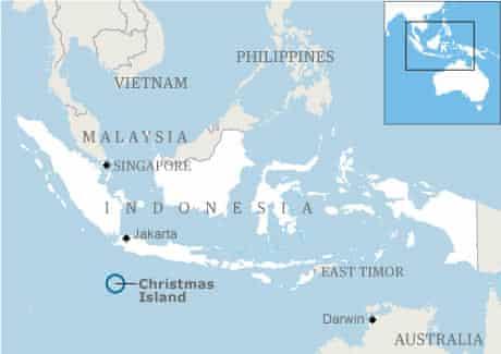 Map: Christmas Island locator