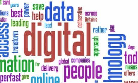 Gordon Brown's digital Britain speech as a Wordle