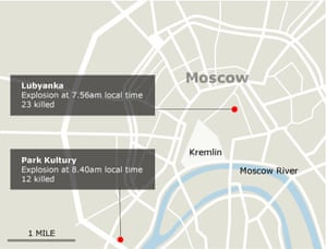 Map: Moscow subway bombings