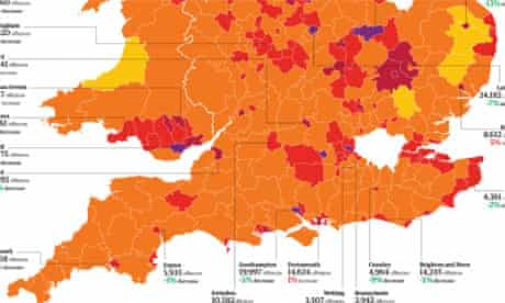 England and Wales crime graphic