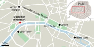 Graphic: map - museum of modern art in Paris