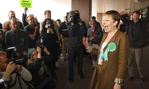 Caroline Lucas becomes Britain's first Green party MP
