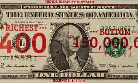 Occupy George dollar bill
