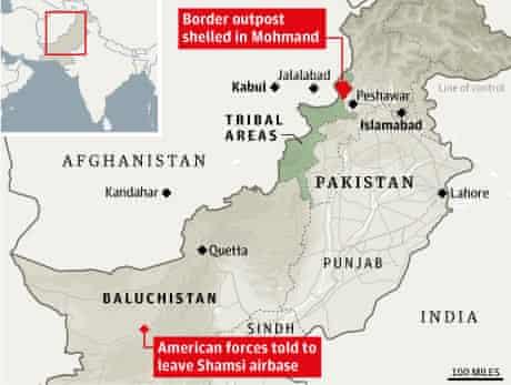 Location of Nato attack and Shamsi airbase