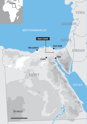 Map - Suez Canal