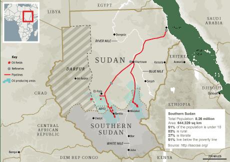 Map: Southern Sudan, 460