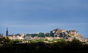 Edinburgh Castle in Edinburghs Old Town
