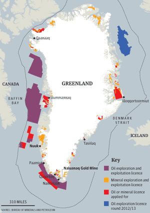 Denmark S Natural Resources Map