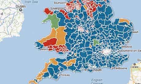 Boundary changes UK map