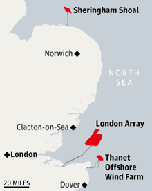 Offshore windfarms map