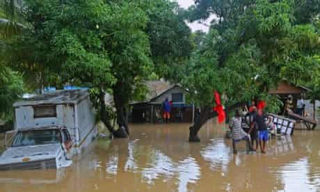 Flooding in Haiti caused by hurricane Sandy