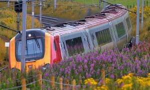 A Virgin train on the west coast line