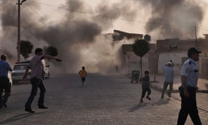 Mortar bomb hits Akçakale in Turkey