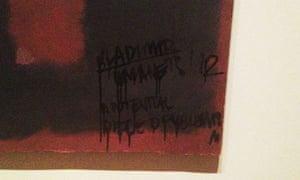 Defaced Rothko