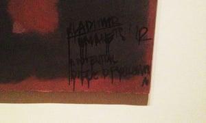 Defaced Rothko at Tate Modern