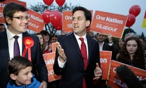 Andy Sawford and Ed Miliband