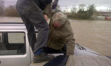 Elderly man rescued in Keynsham